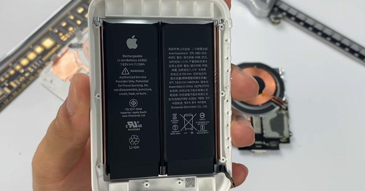 Abriss des MagSafe-Akkupacks bestätigt Dual-Cell-Design