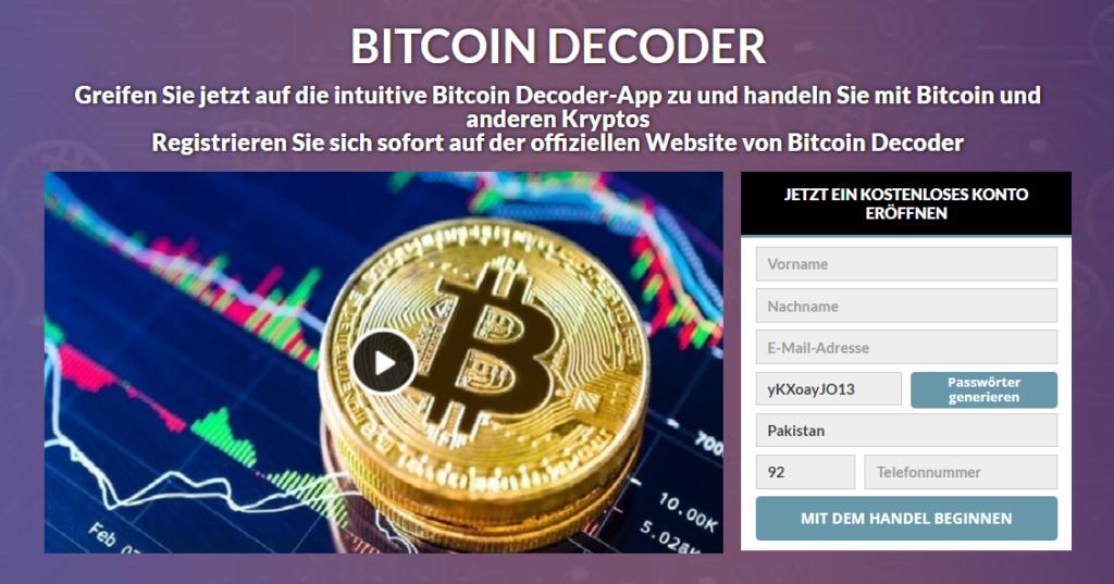 Bitcoin Decoder Review: Legit Oder Betrug? Funktioniert Diese Software Wirklich?